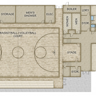 Gym Full Floor Plan