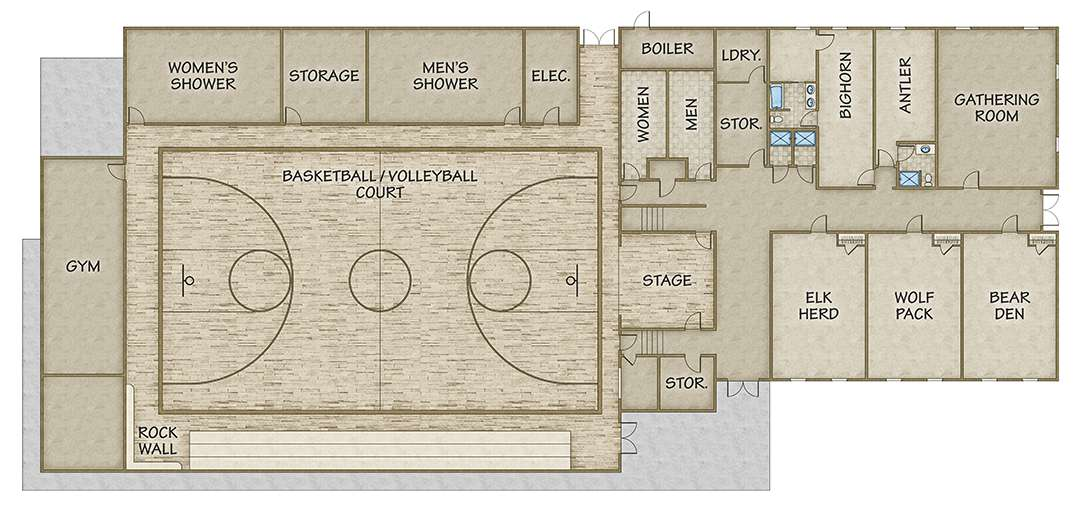Basketball gym floor plans gurus floor for Basketball floor plan