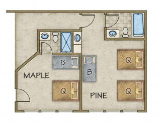 Lodge 1 Floor Plan